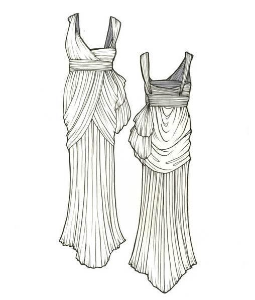 礼服款式图-婚纱礼服设计-服装设计图片