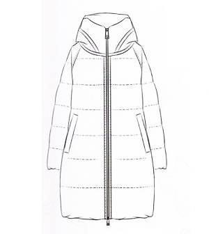 羽绒大衣款式图