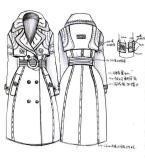 大衣风衣款式工艺手稿