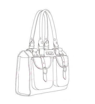 包 包包 简笔画 挎包手袋 女包 手绘 手提包 线稿 398_438