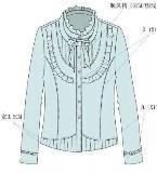 衬衫款式工艺单