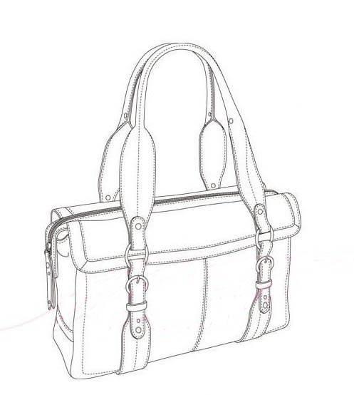 包 包包 简笔画 挎包手袋 女包 手绘 手提包 线稿 497_554-少女包包简笔