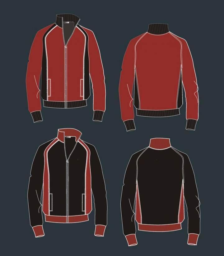 运动外套防风衣-男装设计-服装设计
