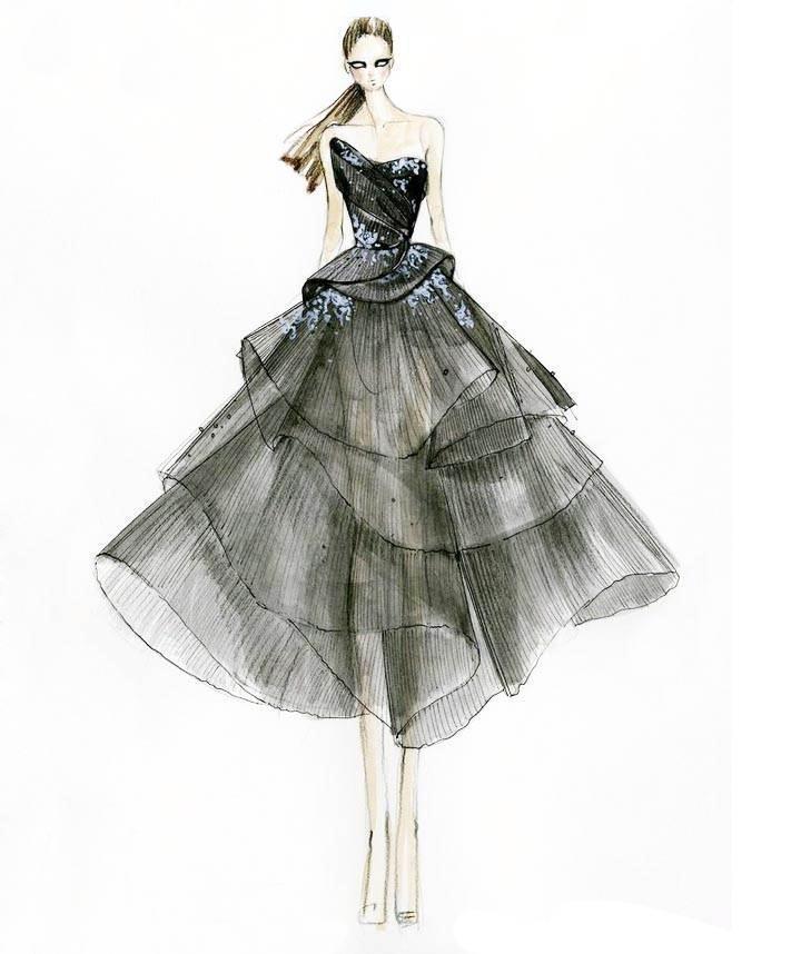 礼服手绘稿