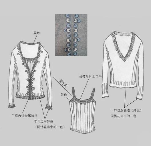 毛衣款式-毛衫针织设计-服装设计