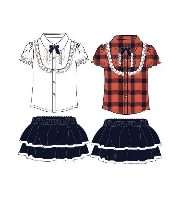 套装(校服款式)-童装设计-服装设计图片