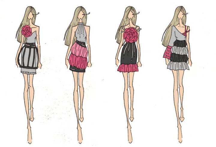 创意小礼服图稿
