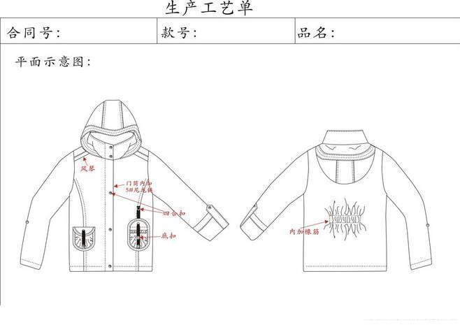 棉服设计手绘图