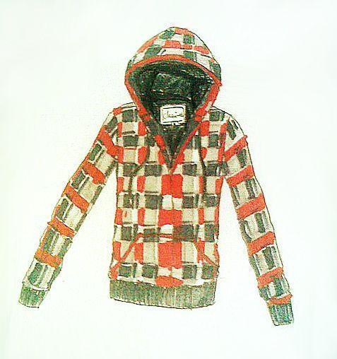 卫衣手绘作品-卫衣手绘款式图