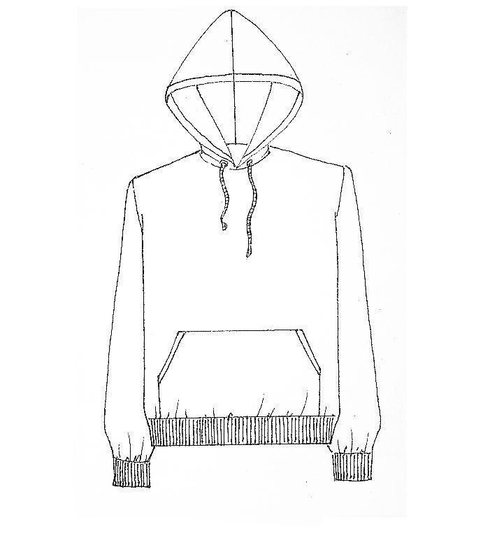 卫衣款式图手稿