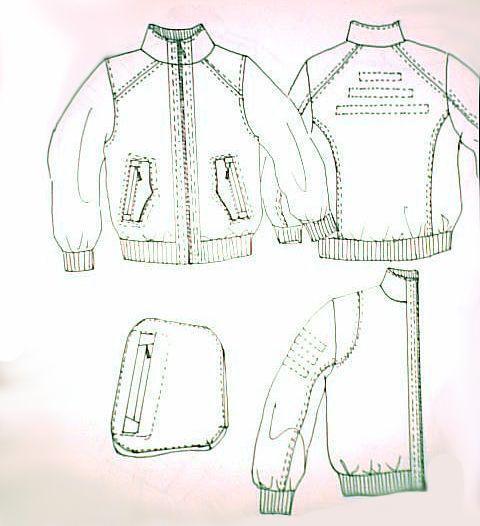 男装手绘图1-男装设计-服装设计
