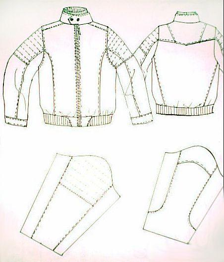 男装手绘图5-男装设计-服装设计