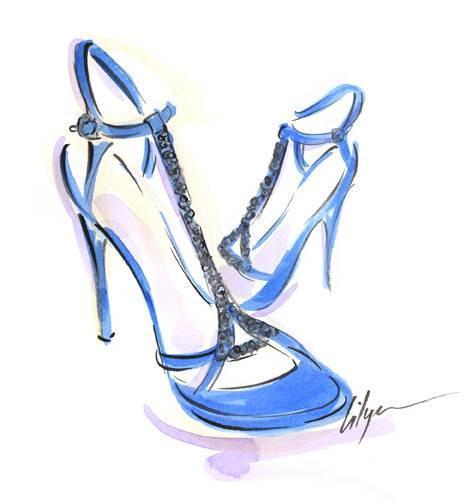女鞋手绘效果图稿-鞋帽配饰设计-服装设计