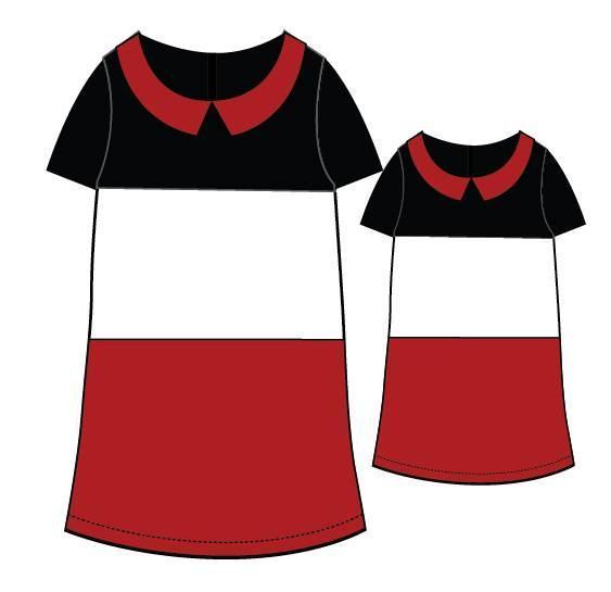 母女连衣裙款式图搜集-童装设计-服装设计