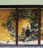 橱窗设计女装陈列圣诞