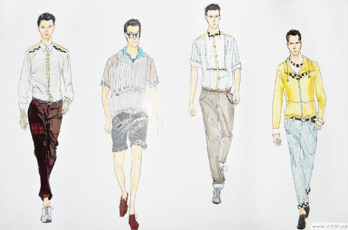 休闲男装系列设计-男装设计-服装设计