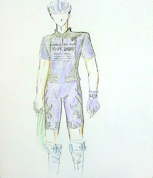服装手绘图及平面效果图骑行服