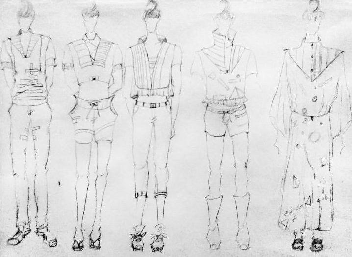 男装手绘稿-男装设计-服装设计
