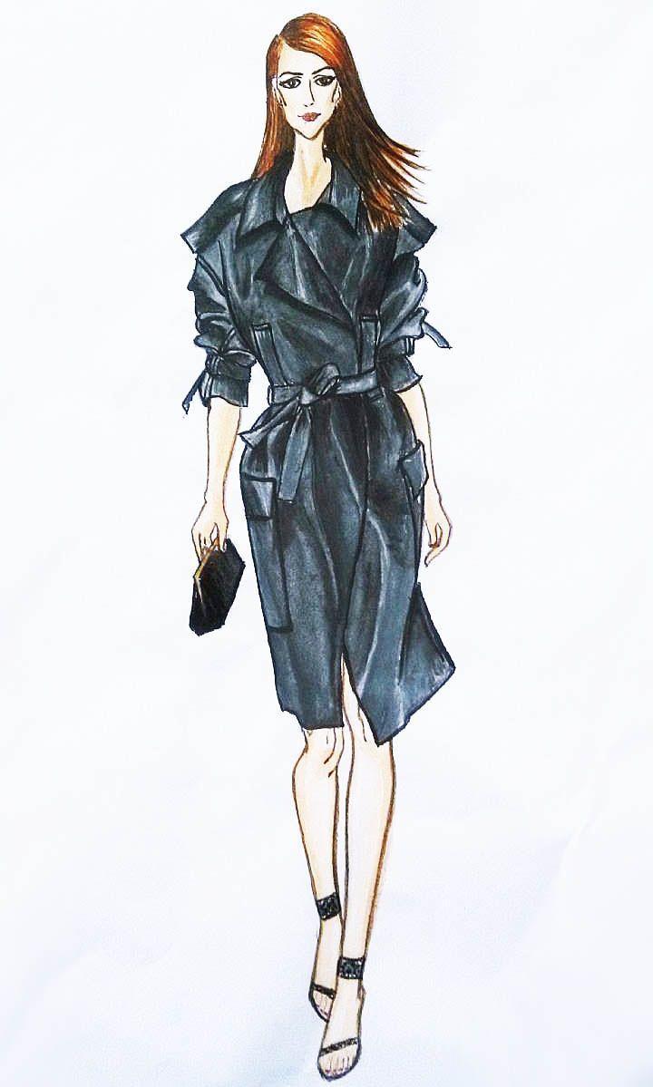 2014女士休闲运动装_女装大衣/风衣/夹克设计手稿图-女士大衣/风衣/夹克款式效果图 ...