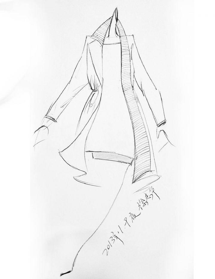 个性风衣-女装设计-服装设计