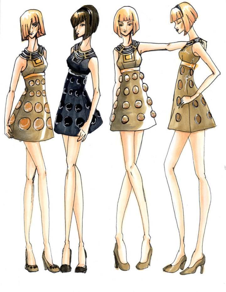 创意小礼服图稿-婚纱礼服设计-服装设计