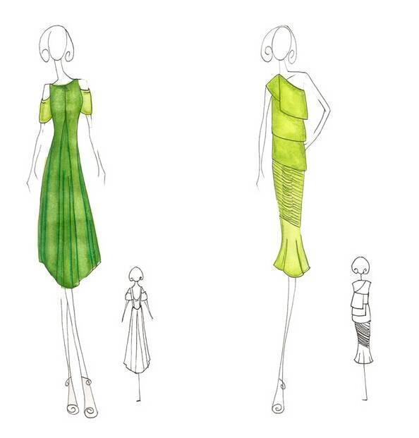 小礼服手稿作品-小礼服手稿款式图