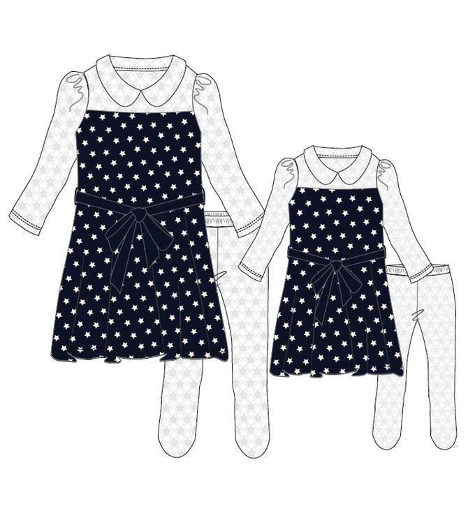 亲子连衣裙-童装设计-服装设计
