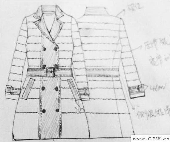 黑色大衣款式拼接羽绒衣