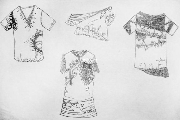 服装款式图-女装设计-服装设计