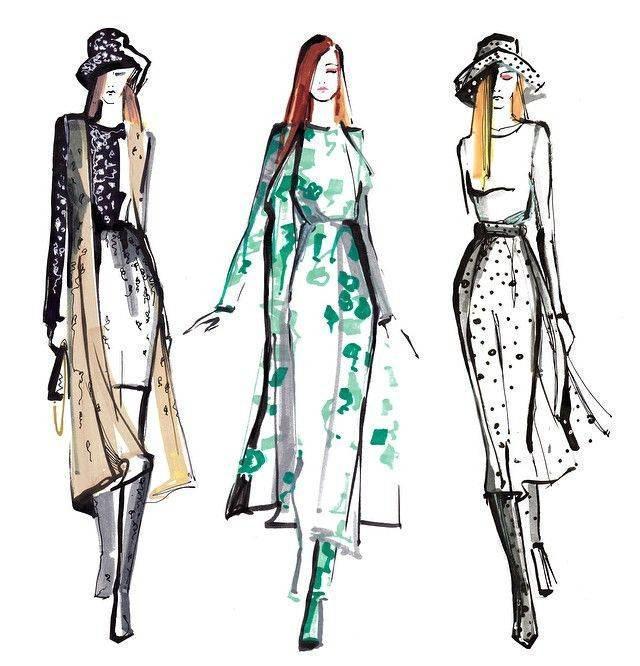 马克笔手绘-女装设计-服装设计