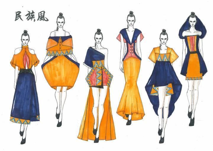 民族风-女装设计-服装设计
