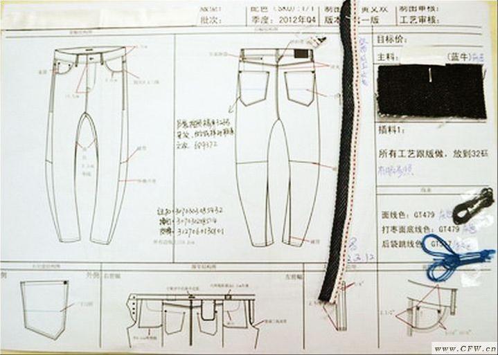 休闲,牛仔裤-男装设计-服装设计