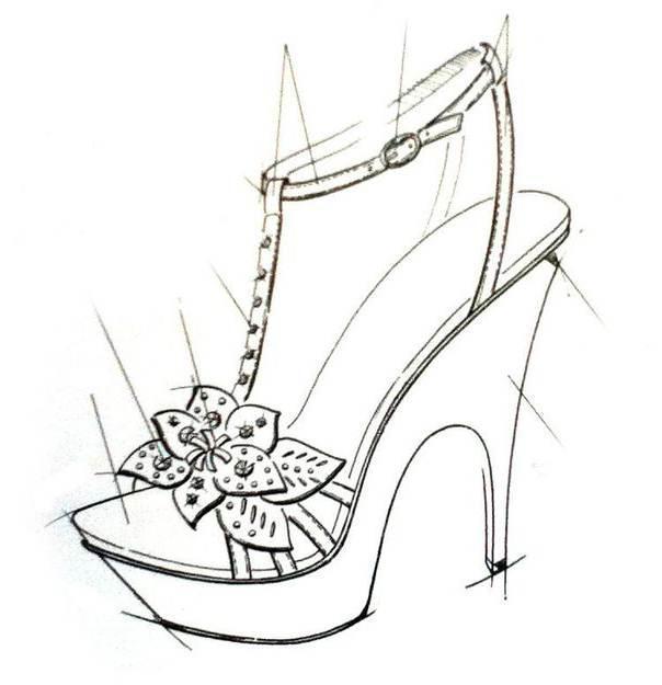 鞋履手稿-鞋帽配饰设计-服装设计图片