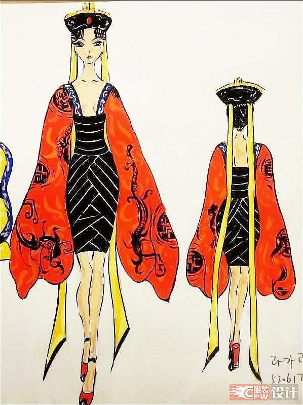 中国风—艳后-女装设计-服装设计
