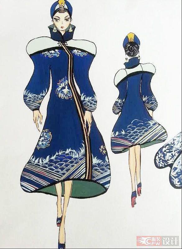 中国风连衣裙—臣-女装设计-服装设计