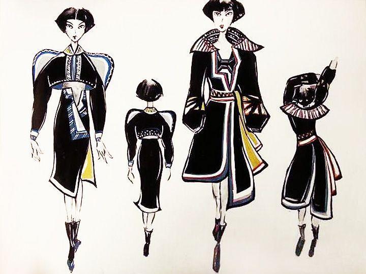 民族风—女汉子-女装设计-服装设计