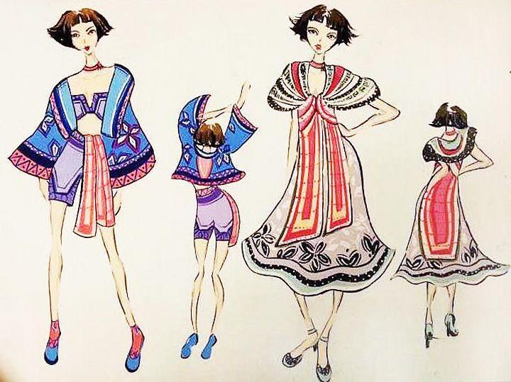 民族风—姑娘-女装设计-服装设计