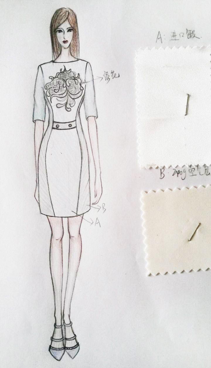 修身连衣裙
