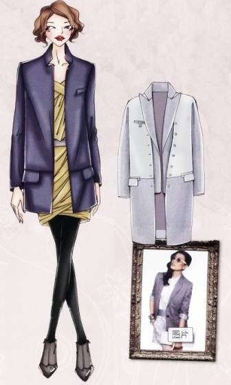 中性大衣-女装设计-服装设计