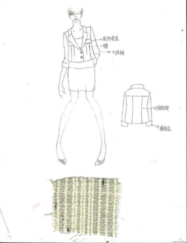 外套怎么画简笔画图片