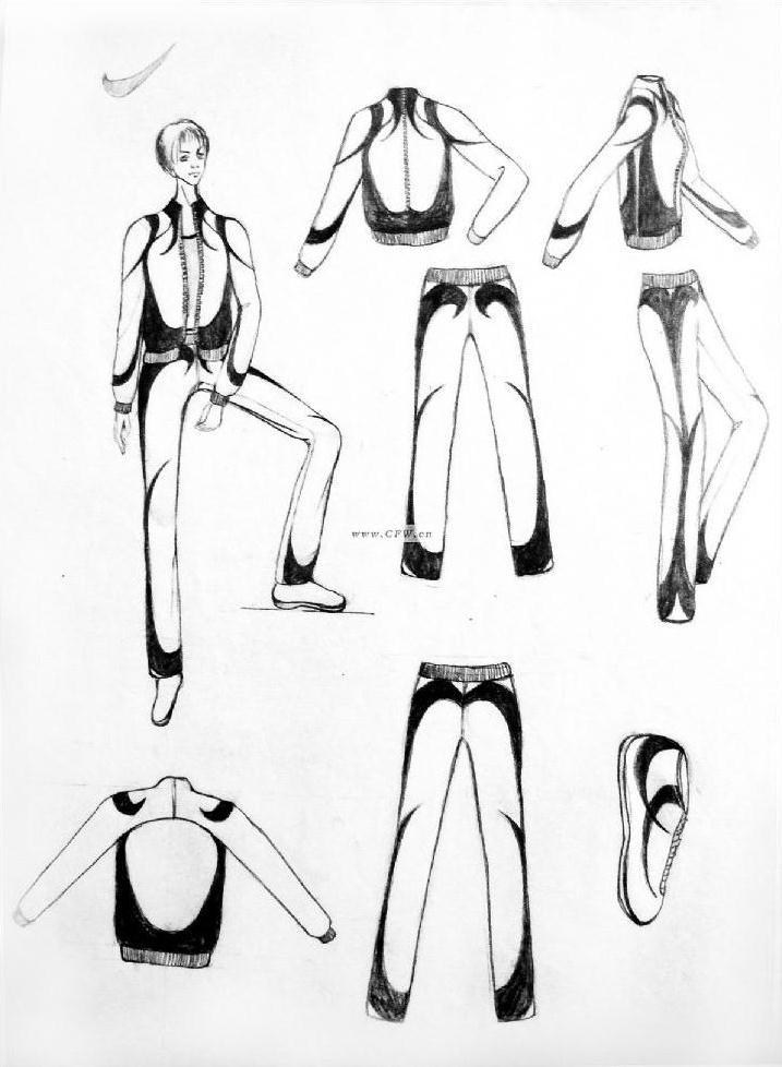 作业nike效果图-女装设计-服装设计