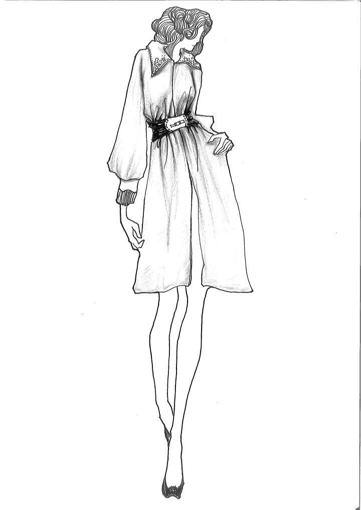 手绘职业女装款式图