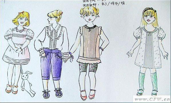童装手绘稿-童装设计-服装设计