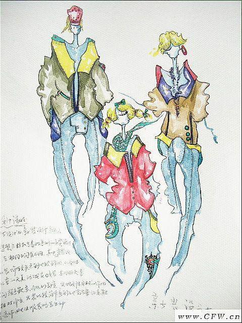 亲子装设计-童装设计-服装设计