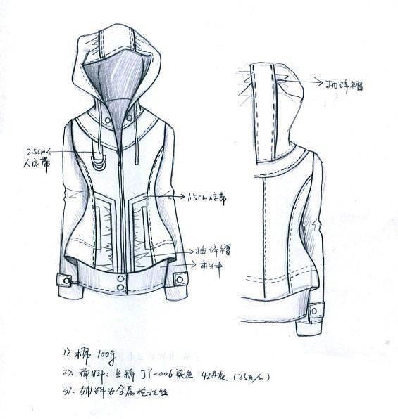 外套手稿-女装设计-服装设计