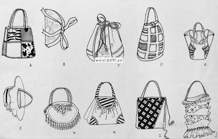 包包作品-包包款式图