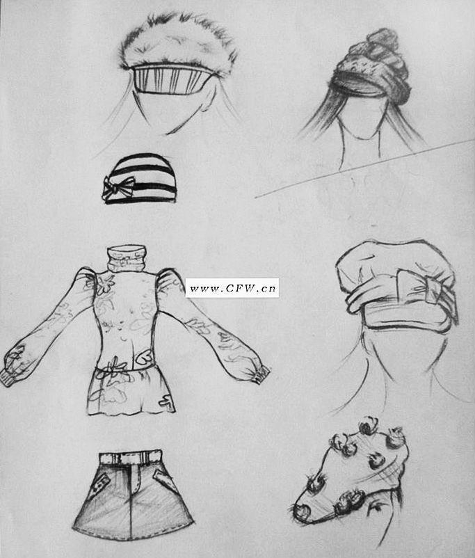 帽子素描画步骤