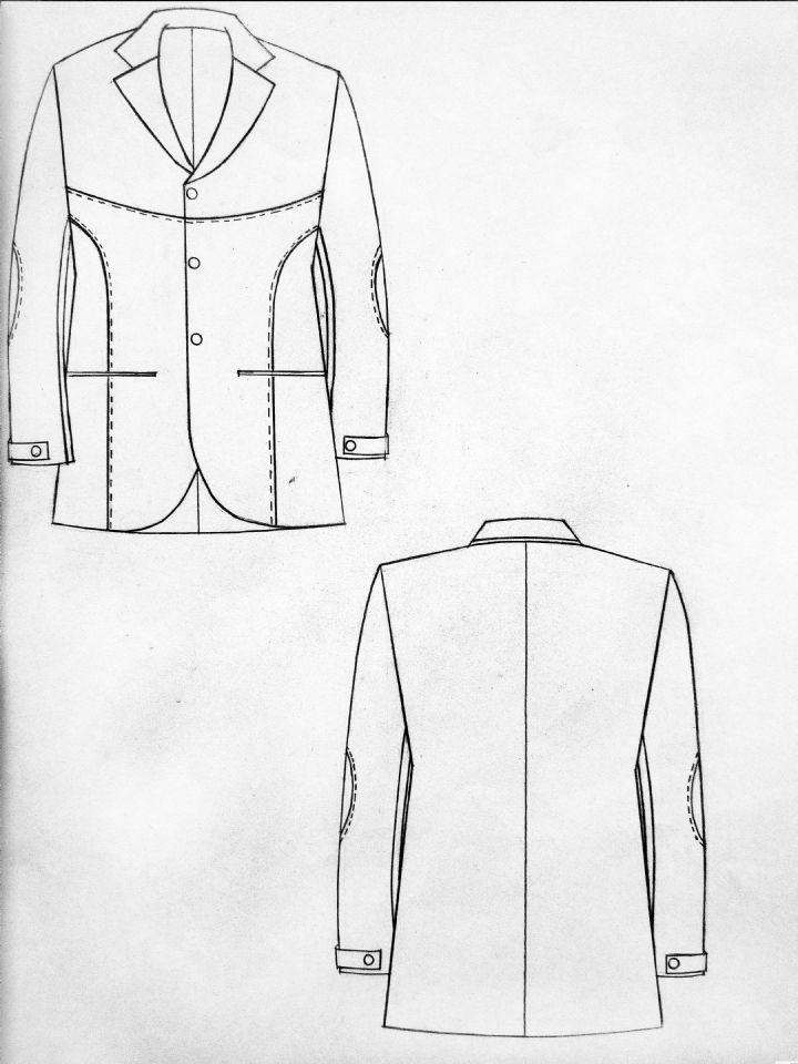 男装西服款式图-职业服装设计-服装设计