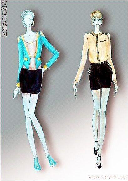新款女装_女装职业设计手稿图-女装职业款式效果图-CFW服装设计