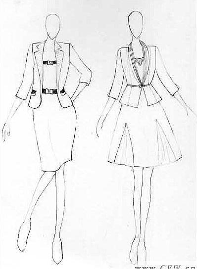 女装设计稿 职业服装设计
